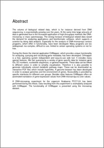 Thesis Dissertation Abstract