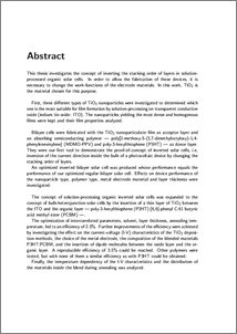 Thesis on polypyrrole