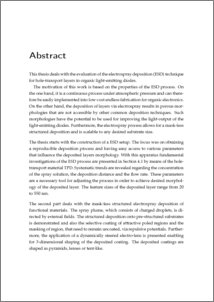 writing a thesis abstract
