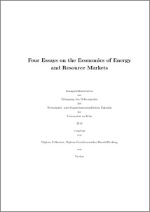 Dissertation on energy economics