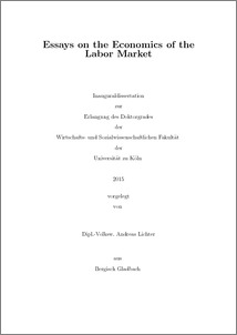 Examples List on Labour Market