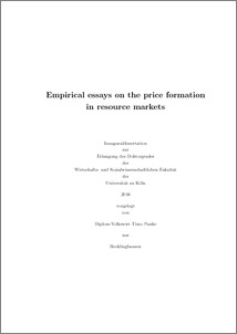 Empirical dissertation
