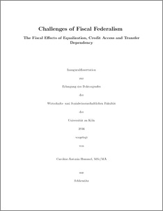 thesis on fiscal federalism