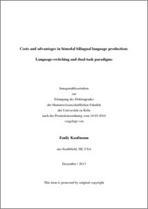 Phd thesis on bilingualism