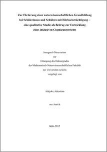 Dissertation entwicklung eine