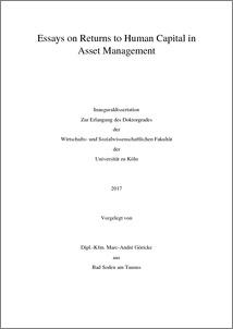 Phd thesis on human capital